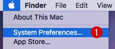 Preferenze di sistema di macOS