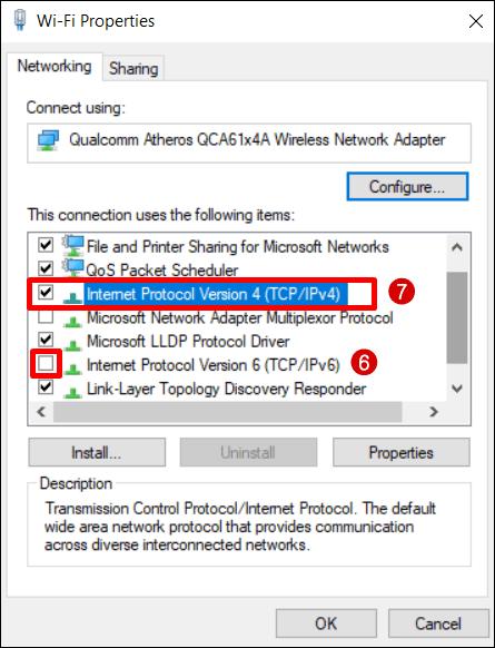Windows 10 Impostazioni TCP IP / 4