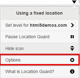opzione guardia di posizione