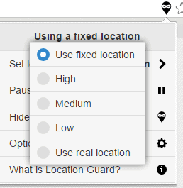 Location guard options