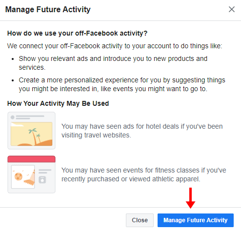 manage future activity