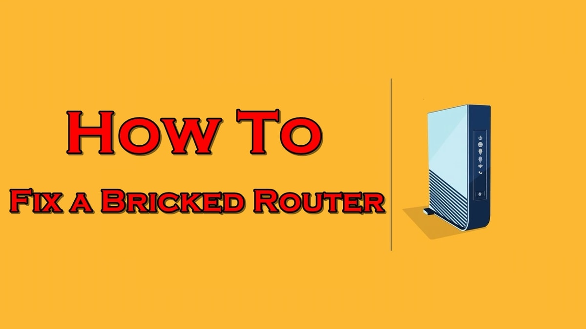 how to unbrick router