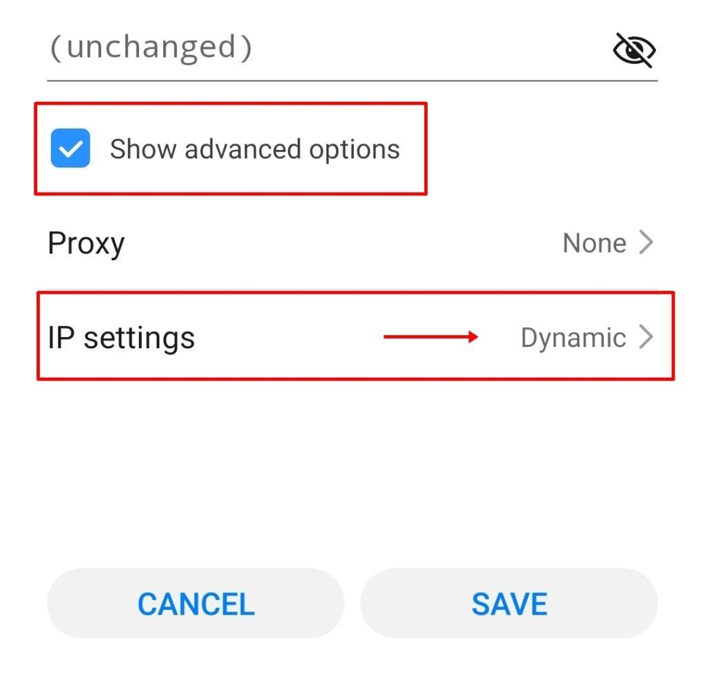 android wifi gelişmiş seçenek