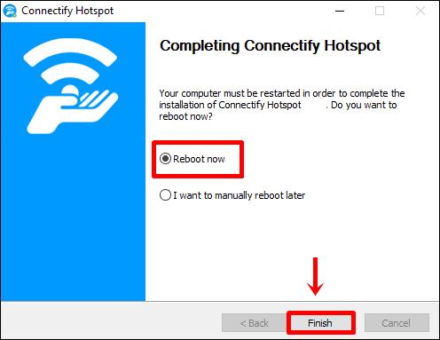 connectify kurulum tamamlandı