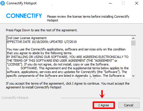 connectify lisans anlaşması