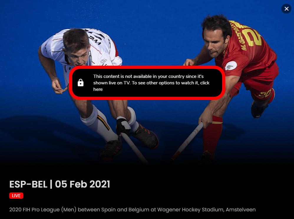 Watch.Hockey Error: ta zawartość nie jest dostępna w Twoim kraju