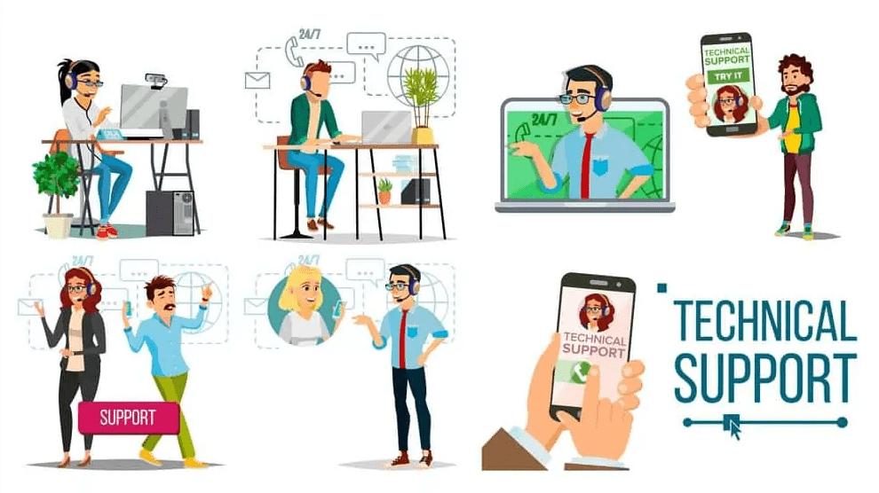 온라인 컴퓨터 도움말 및 기술 지원