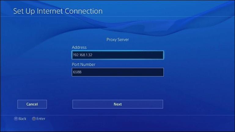 Playstation proxy server