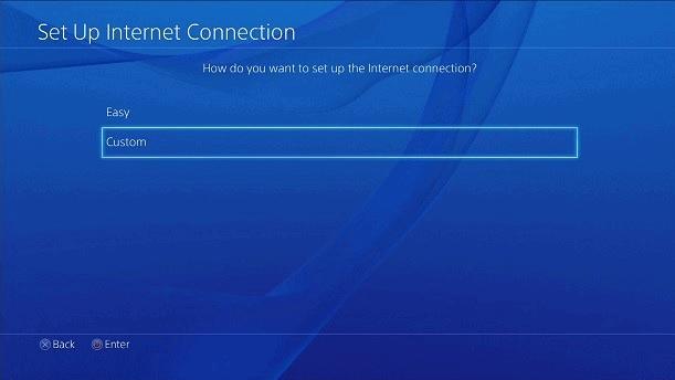 Playstation połączenie niestandardowe