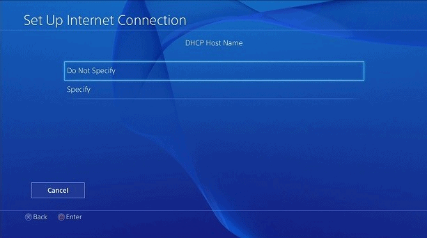 Playstation Nome host DHCP