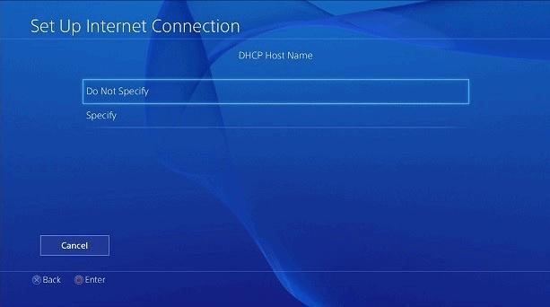 Playstation Nazwa hosta DHCP