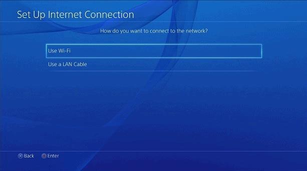 Playstation wybierz sieć
