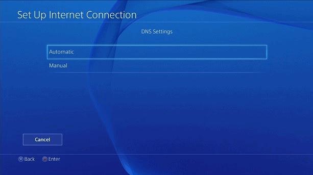 Playstation Ustawienia DNS