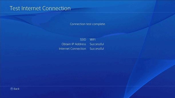Playstation połączenie testowe