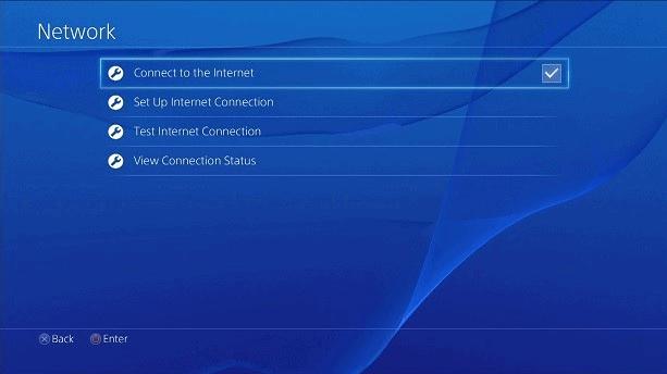 Playstation Opcje sieciowe