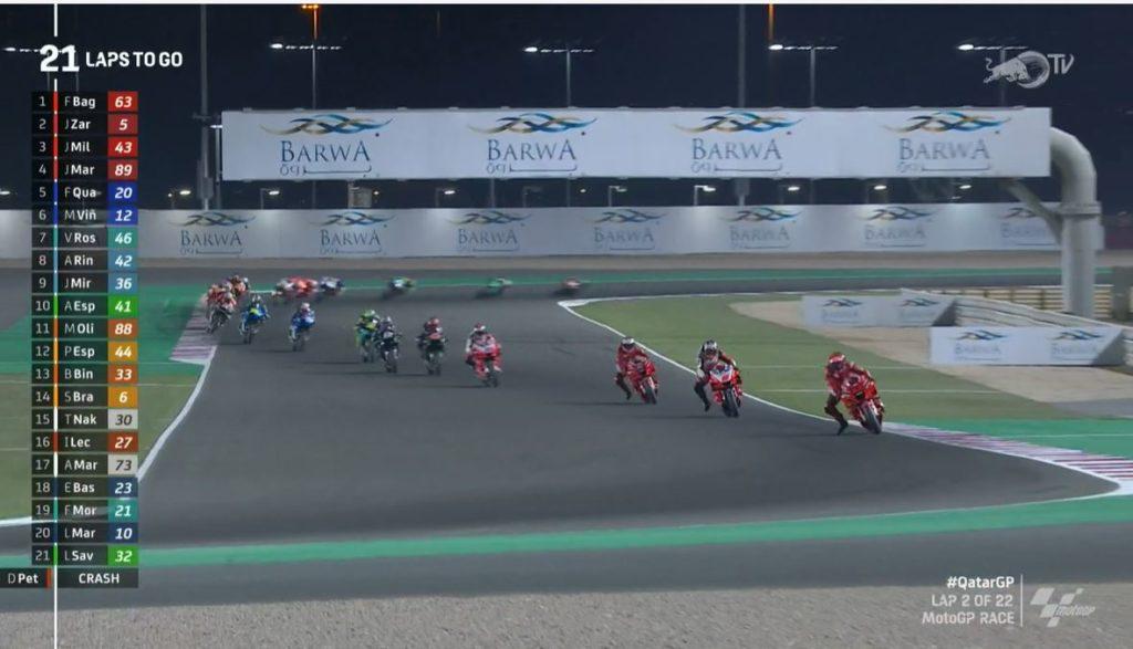 Guarda lo streaming in diretta della MotoGP 2021