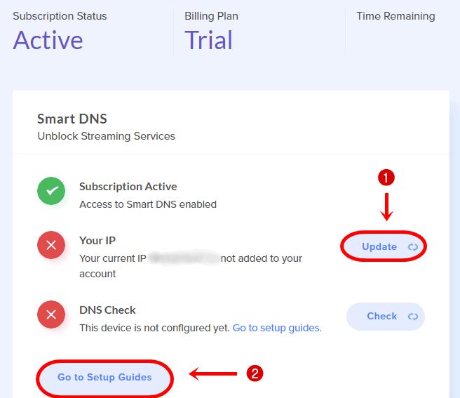 Unlocator Smart DNS Impostare