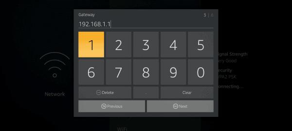 Firestick TV memasukkan ip gateway secara manual