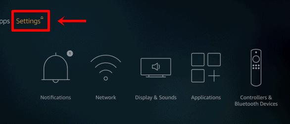 Pengaturan jaringan TV Firestick