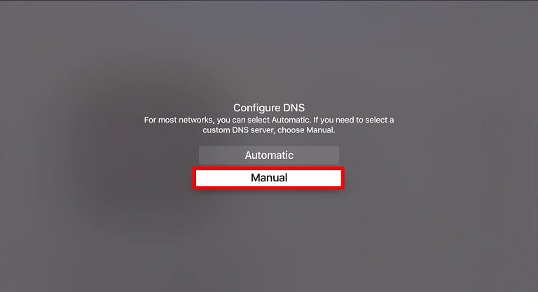 Apple Konfigurasi dns manual TV