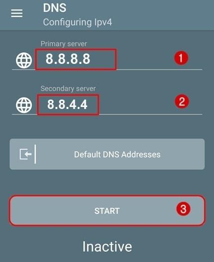 Android'de uygulamayı kullanarak Google DNS ekleme