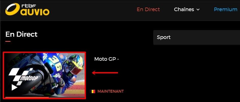 MotoGP on RTBF TV