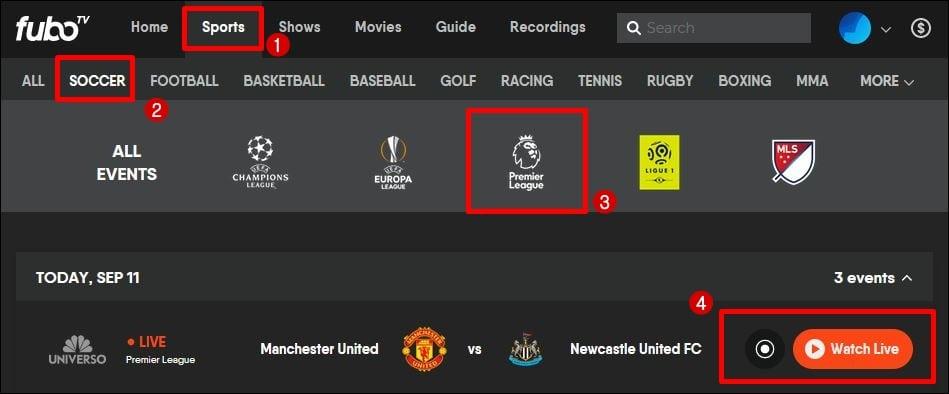 Смотрите прямую трансляцию английской премьер-лиги