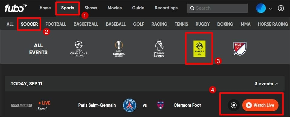 Watch French Ligue 1 Live Stream